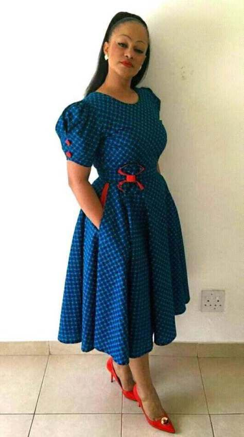 latest shweshwe dresses in South Africa in 2019 5