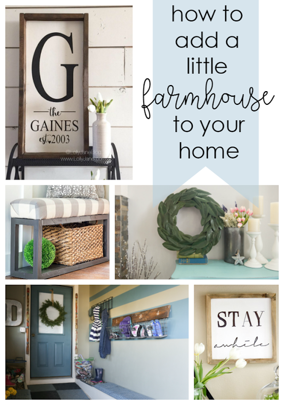 How to Add a Little Farmhouse to Your Home at GingerSnapCrafts.com #farmhouse #forthehome
