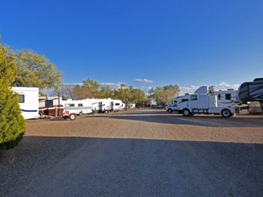 RVs at Enchanted Trails RV Park & Trading Post