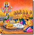 [Yudhishthira hearing from Bhishma]