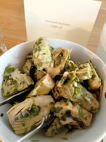 Meadowlark PDX Apericena: A Springtime Sicilian Cocktail Party, homemade antipasti like marinated artichokes