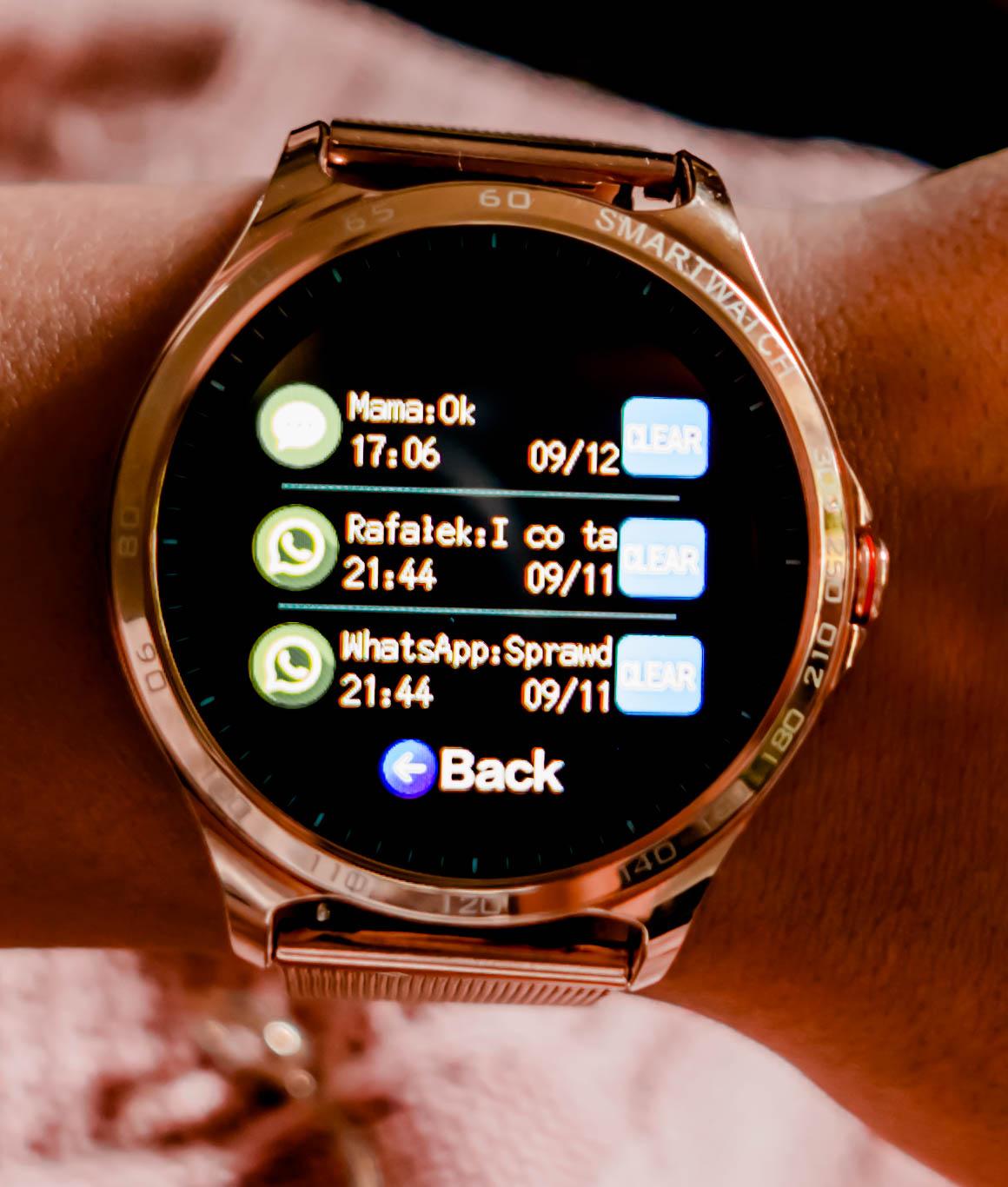 funkcje smartwatcha garett maya