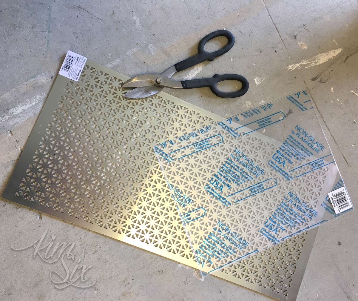 8th Inch Plexiglass Sheet Perforated Sheet Metal Diy Frame