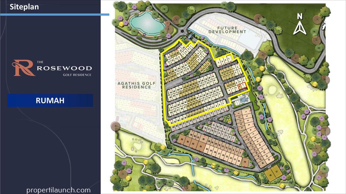 Siteplan Rumah Rosewood Summarecon Bogor
