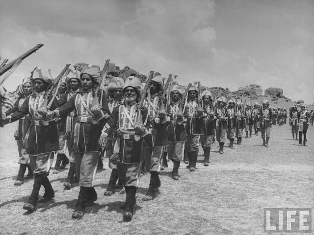 Nizam's bodyguards marching