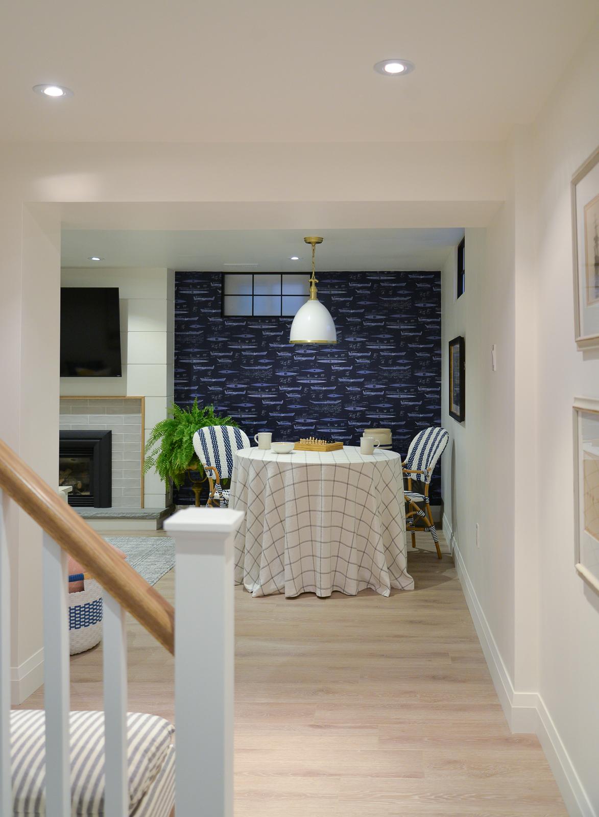 simply white benjamin moore basement, simply white oc-117, benjamin moore simply white