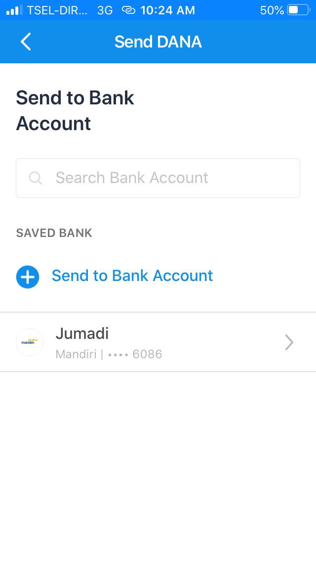 2. Pilih Akun Bank