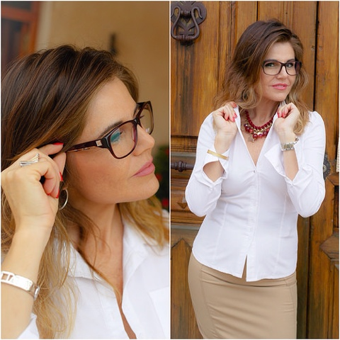 Estilismo con gafas graduadas