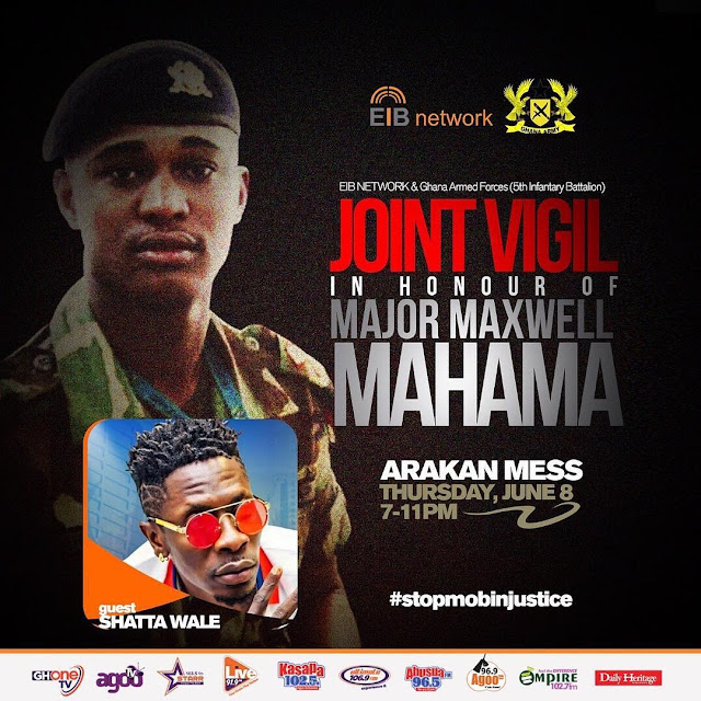 Shatta Wale to perform at the joint vigil Mega bash in honour of Major Maxwell Mahama - read more