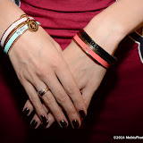 WWW.ENTSIMAGES.COM -     Postcode Bangles on display   at      Whistle and  Bango  launch party at Wolf and Badger, London October 23rd 2014Ashley James, Ania Kubow and Rosie Parkes are showcasing their new brand and bracelets at a celebrity studded press launch                                                 Photo Mobis Photos/OIC 0203 174 1069