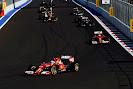 Fernando Alonso in front of Kimi Raikkonen, Ferrari F14T