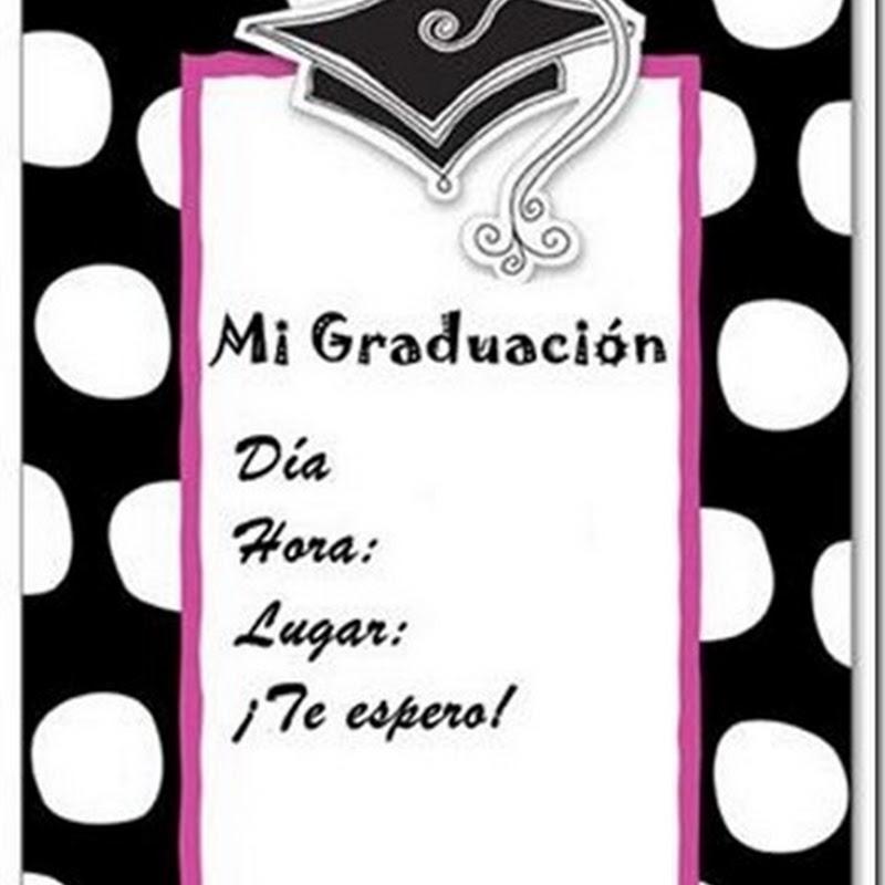 Invitaciones de graduación para imprimir