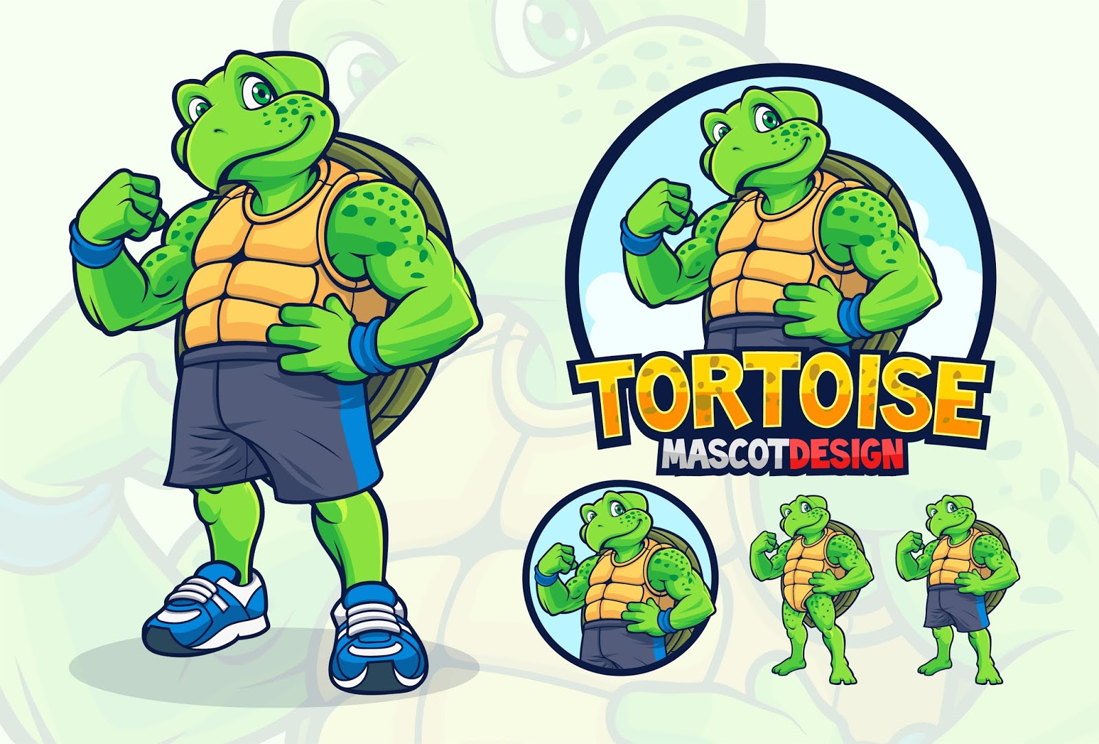 Turtle Mascot Design Companies Sport Teams Free Download Vector CDR, AI, EPS and PNG Formats