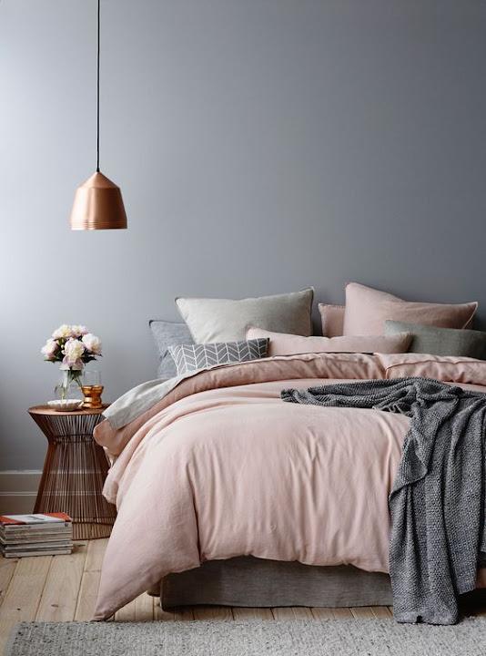 habitación principal rosa cuarzo