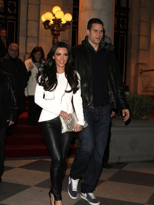 KIM KARDASHIAN AND KRIS HUMPHRIES AT AVRIL LAVIGNE NEW ALBUM MUSIC RELEASE PARTY IN NEW YORK