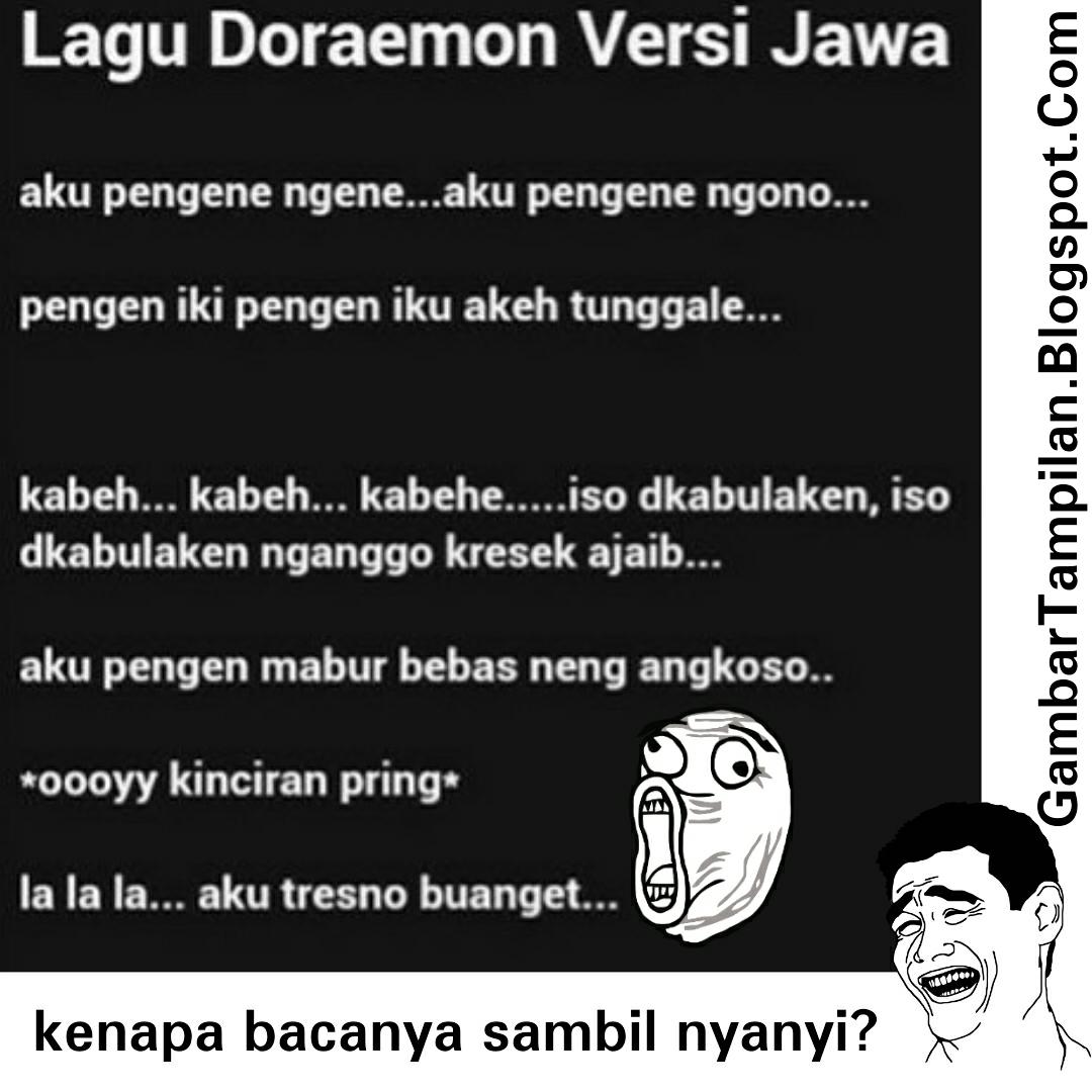 Lagu Doraemon Versi Jawa Gambar Tampilan DP BBM
