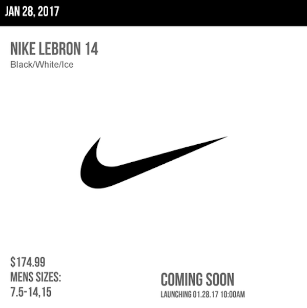 Nike LeBron 14 Get a Release Calendar Update for Jan 28th