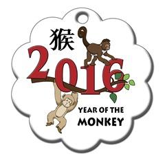 символ 2016 года - огненная обезьяна клипарт