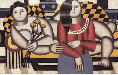 Fernand Léger - Femme tenant des fleurs (1922)