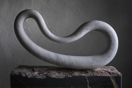 Loren: CARRARA MARBLE, 2017: W 69cm, H 30 cm, D 9 cm; SOLD