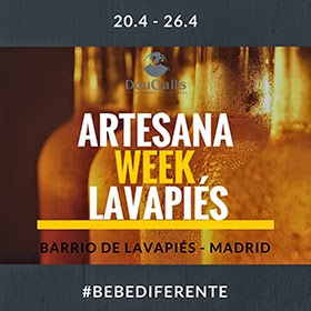 Artesana Week. 24 fabricantes de cerveza artesana se dan cita en Lavapiés