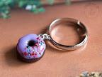 Purple Donut Dangle Ring