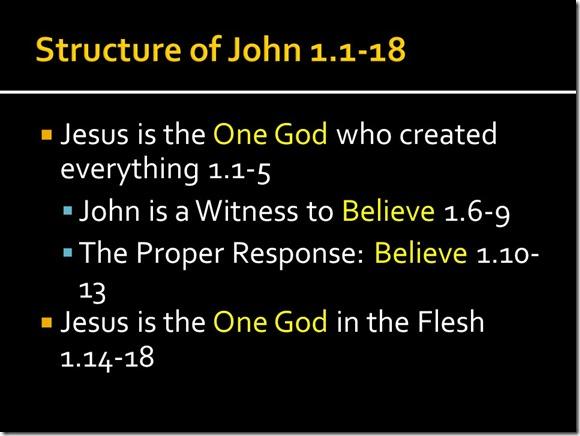 Basic Chiasm John 1.1-18