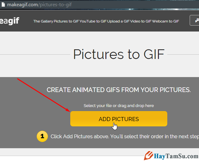 Chọn ảnh để tạo ảnh động GIF