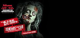 Halloween al Parque de Atracciones de Madrid del 5 de Octubre al 3 de Noviembre de 2013