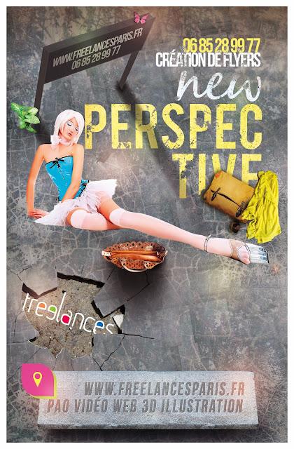 création flyers soirées thème Jpop New Perspective