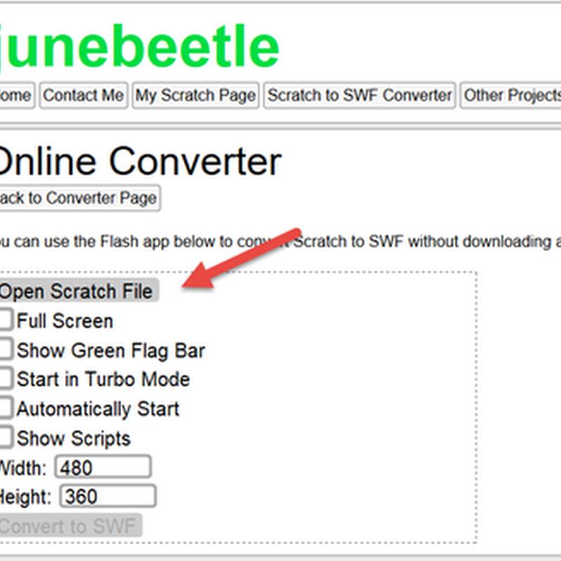 การแปลงไฟล์ Scratch เป็น SWF แบบ Online