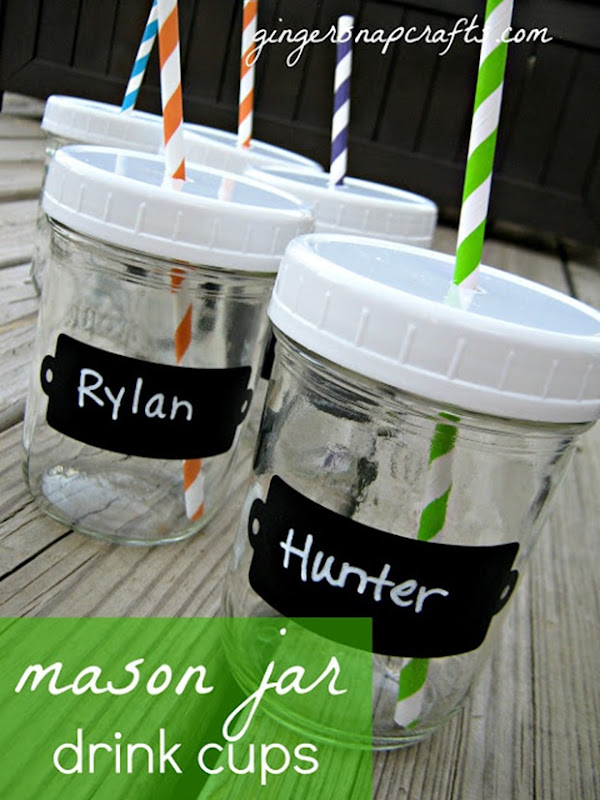 mason jar drink cups with lids