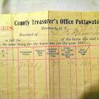 Tax receipt of T. B. Gleaves 1897
