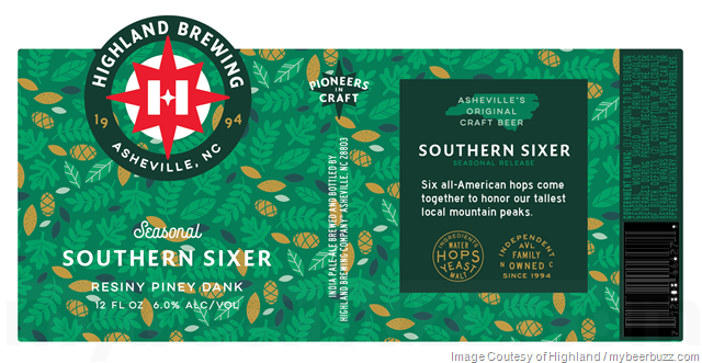 Highland Brewing Rebranding Continues With Oatmeal Porter, Southern Sixer & AVL IPA