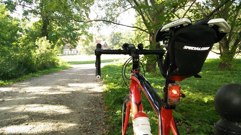 Lupine Rotlicht am Roadbike montiert