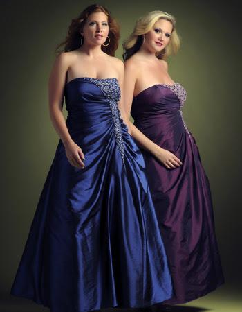 abendkleidung für mollige - kleid übergröße