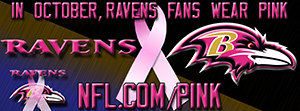 Ravens Breast Cancer Awareness Pink Facebook Cover Photo
