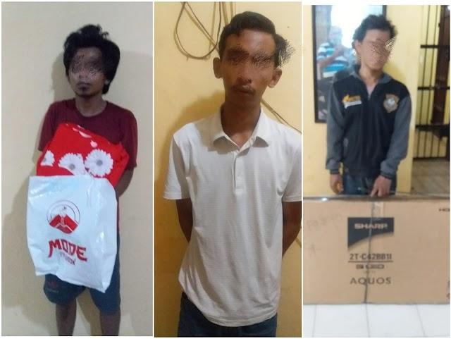 Polsek Tanjung Beringin Amankan 3 Pelaku Pencurian