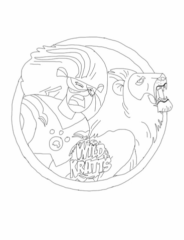 Wild Kratts Lion Coloring Page