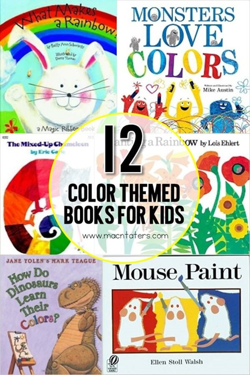 These 12 books about color are sure to please even the littlest readers. These color themed books are great for toddlers, preschoolers, and school aged children and are great to accompany your color themed learning activities.