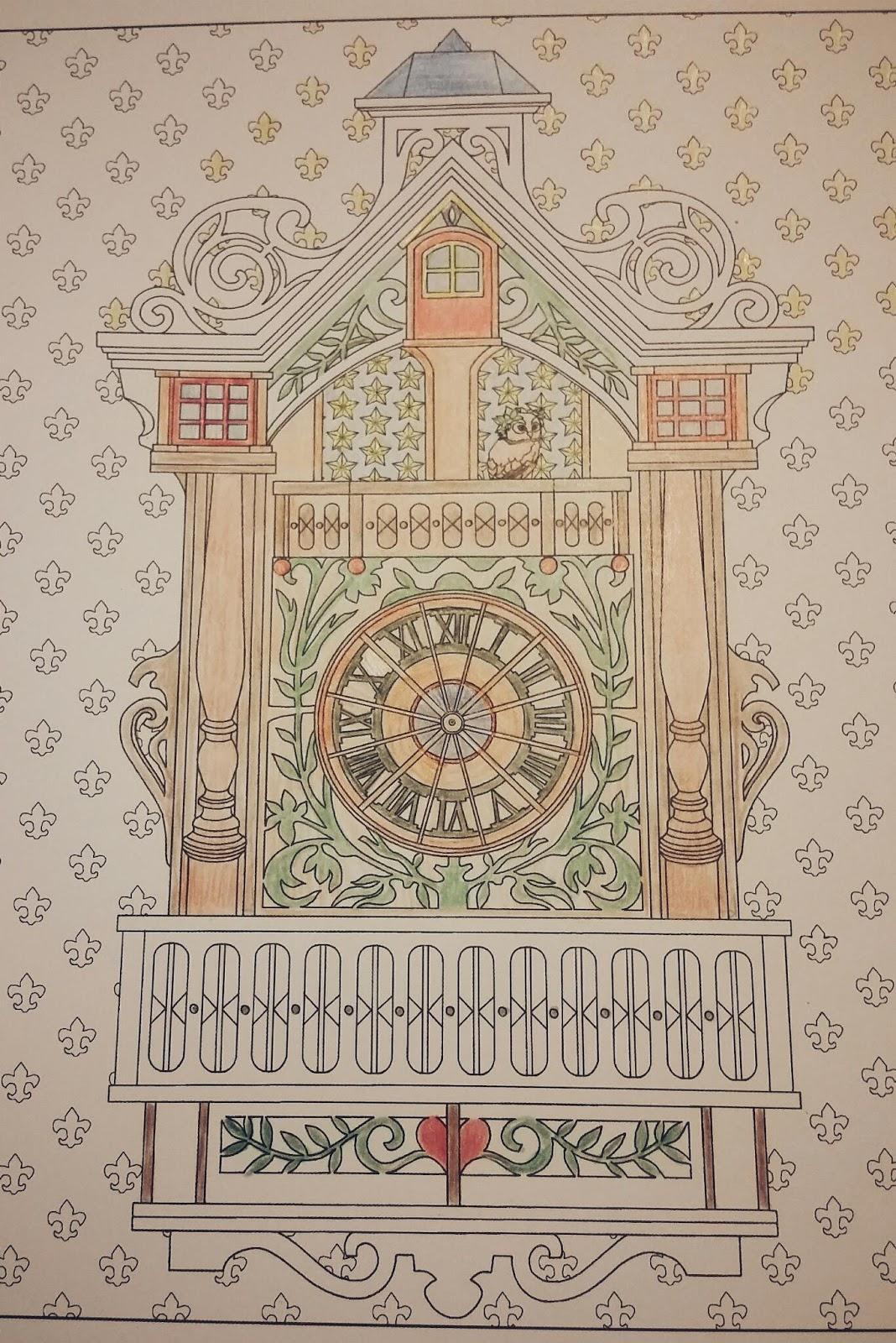 Adult Coloring Book For Relaxation The Time Garden By