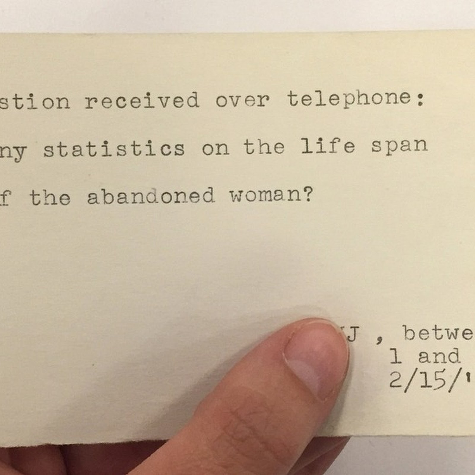 Before The Internet, What People Asked New York Public Library's Librarians?