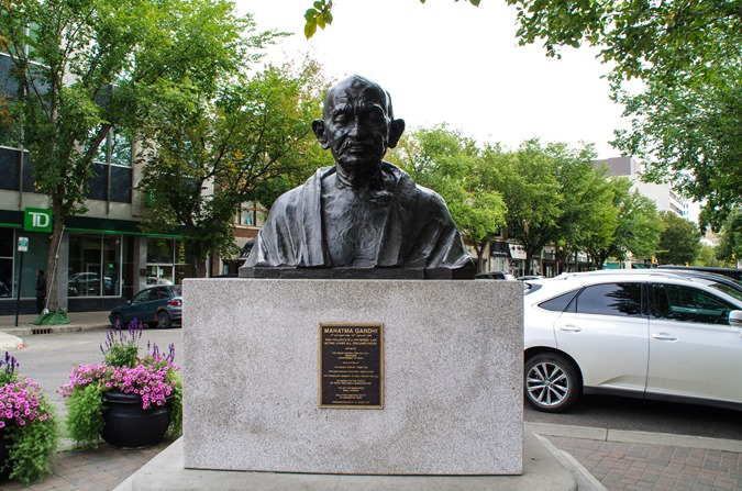 Ghandi in downtown Saskatoon