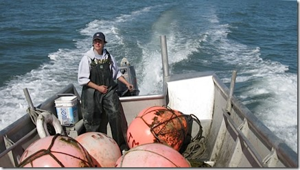 Photo from aksalmonalliance.org -- Dr. Meezie fishing