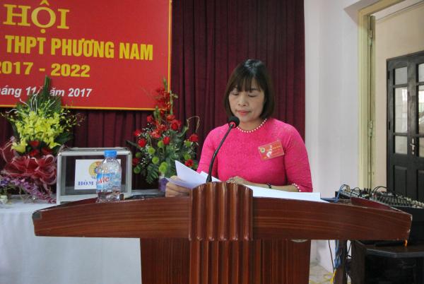 thpt phương nam, đại hội công đoàn 2017-2022