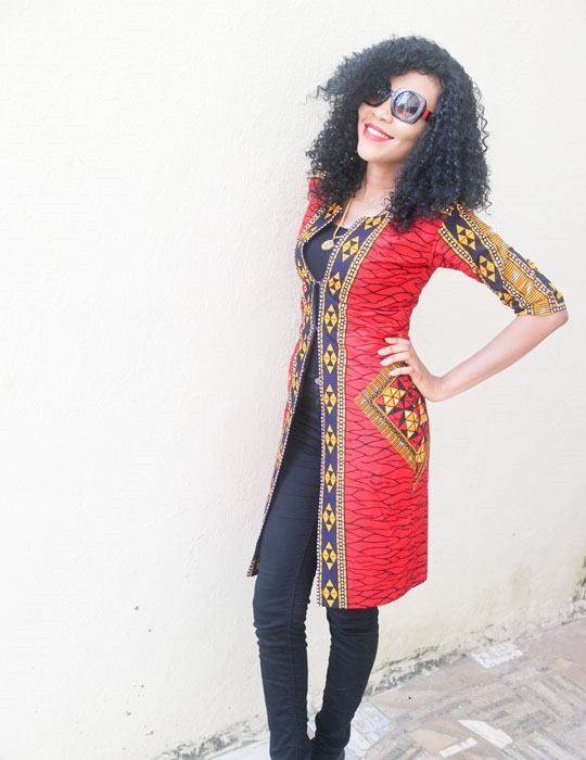 Simple-Long-Ankara-jacket-outfit