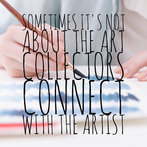 art collectors connect with the artist