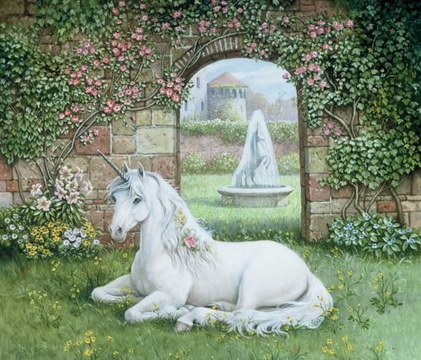 White Unicorn In The Garden, Spirit Companion 4