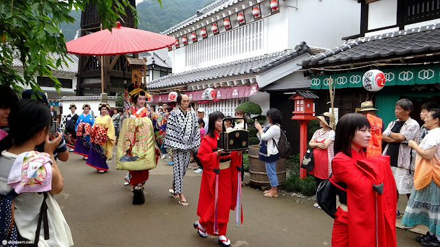 traditional Geisha parade at Edo Wonderland in Nikko, Totigi (Tochigi) , Japan