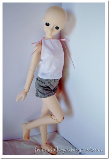 Of Bjd Fashion: Knit Shorts for Dolls: Gray Shorts with a Pocket